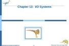 Bài giảng Hệ điều hành nâng cao - Chapter 13: I/O Systems