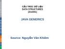 Bài giảng Cấu trúc dữ liệu: Chương 2 - Nguyễn Xuân Vinh