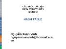 Bài giảng Cấu trúc dữ liệu: Chương 8 - Nguyễn Xuân Vinh