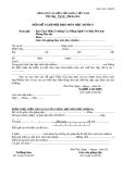 Mẫu đơn đề nghị phụ đạo môn học/môđun