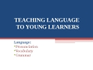 Lectures Module 2: Teaching language to young learners - Nguyen Thi Hoai Minh