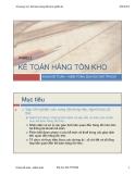 Bài giảng Chương 3-2: Kế toán hàng tồn kho (phần 2) - ĐH. Mở TP.HCM