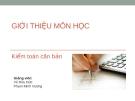 Bài giảng Kiểm toán căn bản: Giới thiệu môn học - Vũ Hữu Đức, Phạm Minh Vương