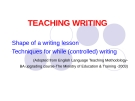 Lectures Teaching writing