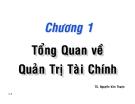 Bài giảng Chương 1: Tổng quan về Quản trị tài chính - TS. Nguyễn Văn Thuận