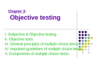 Lecture Chapter 3: Objective testing