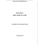 Bài giảng môn Kinh tế vi mô: Phần 2 - Trịnh Hoàng Hiệp