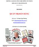 Bài giảng Quản trị bán hàng: Phần 1 - ThS. Phạm Ngọc Phương