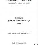 Bài giảng Quản trị nguồn nhân lực: Phần 2 - Ngô Thị Hoàng Fin