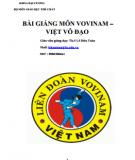 Bài giảng môn Vovinam – Việt võ đạo: Phần 1 - ThS. Lê Hữu Toàn