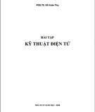 Ebook Bài tập Kĩ thuật điện tử: Phần 1 - PGS.TS. Đỗ Xuân Thụ