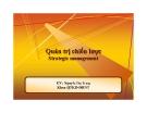 Bài giảng Quản trị chiến lược: Chương 1 - GV. Nguyễn Thu Trang