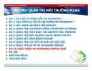 Bài giảng Quản trị môi trường mạng server: Bài 10 - TC Việt Khoa