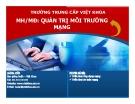 Bài giảng Quản trị môi trường mạng server: Mở đầu - TC Việt Khoa