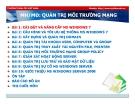 Bài giảng Quản trị môi trường mạng server: Bài 1 - TC Việt Khoa