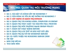 Bài giảng Quản trị môi trường mạng server: Bài 3 - TC Việt Khoa