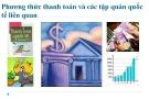 Bài giảng Cán cân thanh toán quốc tế: Phần 4 - ĐH Ngoại thương