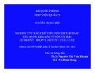 Đề tài: Nghiên cứu bào chế viên nén Diclofenac tác dụng kéo dài từ cốt tá dược Hydroxy propyl methuyl cellulse - Nguyễn Ngọc Điệp