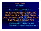 Đề tài: Nghiên cứu định lượng đồng thời Adenosin và allopurinol trong dung dịch wisconsin - A bằng phương pháp quang phổ cộng tính - HV Quân Y