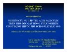 Đề tài: Nghiên cứu sự hấp thu Acid salicylic trên thỏ được gây bỏng thực nghiệm có sử dụng thuốc mỡ Acid salicylic 40% - Hoàng Việt Dũng