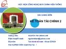 Bài giảng Kế toán tài chính: Chương 5 - GV. Nguyễn Thị Chinh Lam