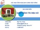 Bài giảng Ghép kênh tín hiệu số: Chương 1 - GV. Ngô Thu Trang