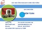 Bài giảng Kiểm toán: Chương 1 -  GV. Nguyễn Thị Chinh Lam