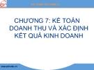 Bài giảng Kế toán tài chính: Chương 7 - GV. Nguyễn Thị Chinh Lam