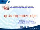 Bài giảng Quản trị chiến lược: Chương 1 - GS.TS Bùi Xuân Phong