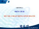 Bài giảng Phân tích hoạt động kinh doanh: Chương 2 - GS.TS. Bùi Xuân Phong