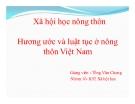 Tiểu luận Xã hội học nông thôn: Hương ước và luật tục ở nông thôn Việt Nam
