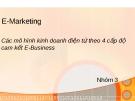 Thuyết trình: Các mô hình kinh doanh điện tử theo 4 cấp độ cam kết E-Business