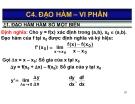 Bài giảng Toán kinh tế: Chương 4 - Nguyễn Ngọc Lam