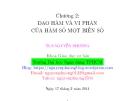 Bài giảng Toán cao cấp: Chương 2 - ThS. Nguyễn Phương