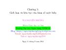 Bài giảng Toán cao cấp: Chương 1 - ThS. Nguyễn Phương