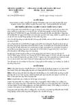 Quyết định 2746/QĐ-BNN-KHCN năm 2013 Thành phố Hồ Chí Minh