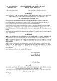 Quyết định 22/2013/QĐ-UBND tỉnh Bạc Liêu