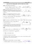 Bài tập luyện thi Đại học chương điện xoay chiều