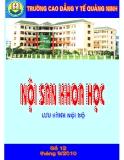 Nội san khoa học: Số 12 tháng 9/2010 - CĐYT Quảng Ninh