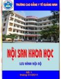 Nội san khoa học: Số 1 tháng 1/2011 - CĐYT Quảng Ninh
