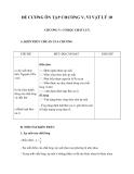 Đề cương ôn tập chương V, VI Vật lý 10