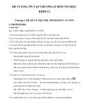 Đề cương ôn tập chương II môn Tin học khối 12