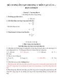 Đề cương ôn tập chương V môn Vật lý 11 – Ban cơ bản