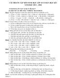 Câu hỏi ôn tập môn Sinh 10 CB HK1 2013 - 2014