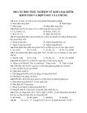 100 câu hỏi về Kim loại kiềm, kiềm thổ và hợp chất của chúng - Hóa 12