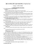 Đề cương ôn tập chương 3 Vật lý 12