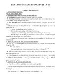 Đề cương ôn tập chương II Vật lý 12