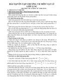 Bài tập ôn tập chương VII môn Vật lý lớp 12 NC