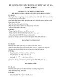 Đề cương ôn tập chương IV môn Vật lý 10 – Ban cơ bản