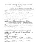 Câu hỏi trắc nghiệm ôn tập chương VI môn Hóa 12